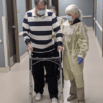 walking with a walker